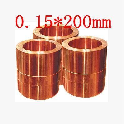 цена на 0.15*200mm High quality copper strip, sheet skin red copper,Purple copper foil,Copper plate