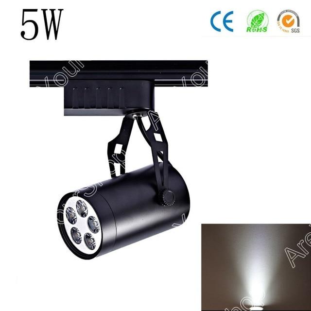 Areyourshop 2 Couleurs 5 W AC LED Piste Ferroviaire Plafond Spot Light Spot Boutique Lampe En Aluminium Noir de Pentec´te dans éclairage sur rail de