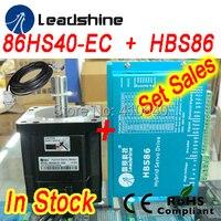 Set ventas Leadshine Servo Motor Híbrido 86HS40 86HBM40-1000 y HBS86 HBS86H servo drive 80VDC 8.2A y codificador de cable