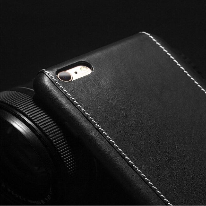 2016 QIALINO Väska för iphone 6 4.7 / 5.5 Lyxig kalvhud äkta - Reservdelar och tillbehör för mobiltelefoner - Foto 5