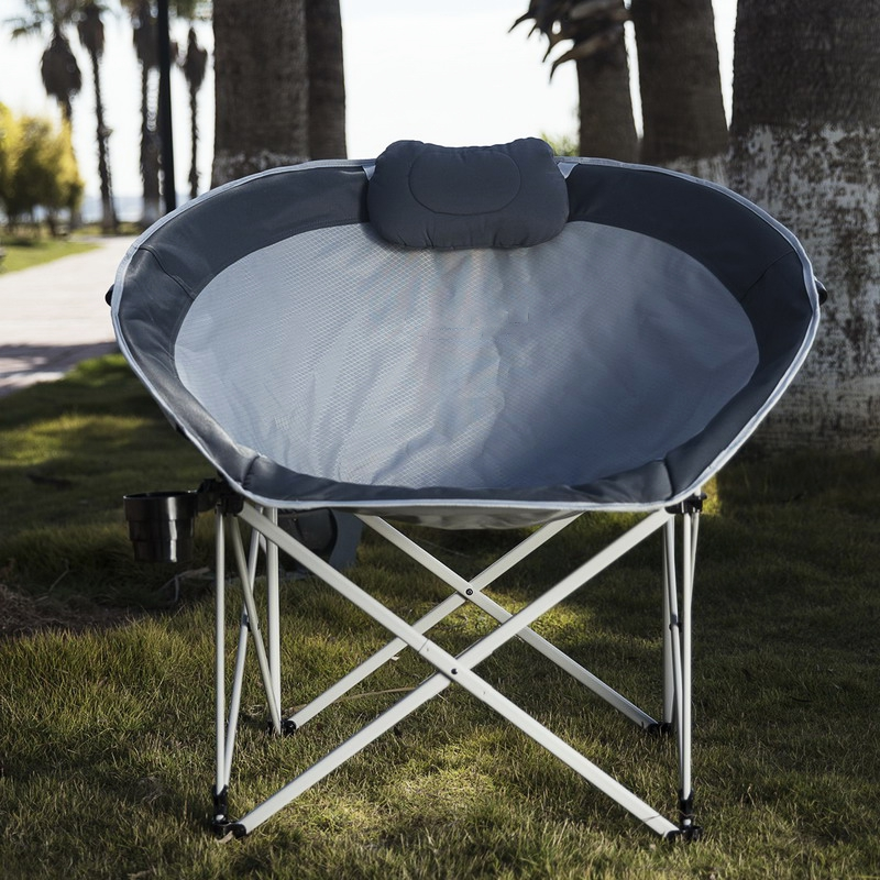 Awesome Us 90 82 13 Off Folding Moon Chair Nap Chair Cozy Egg Shape Chaise Lounge Portable Stable Fishing Patio Parties Camping Beach Picnic Chair In Beach Andrewgaddart Wooden Chair Designs For Living Room Andrewgaddartcom