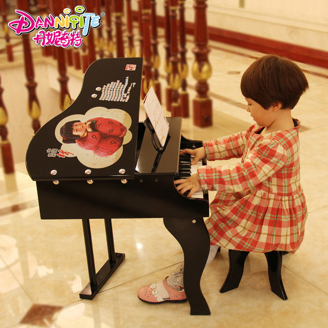 DANNIQITE 30 Keyboards Children Wooden China Dream Piano Toy band Toys kids Music instrument knocking toys