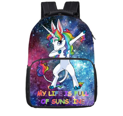 Fantasy Galaxy Unicorn Backpack For Teenage Girls Boys Bag Backpacks Children School Bags Kawaii Rainbow Pony Backpack Kids Bag