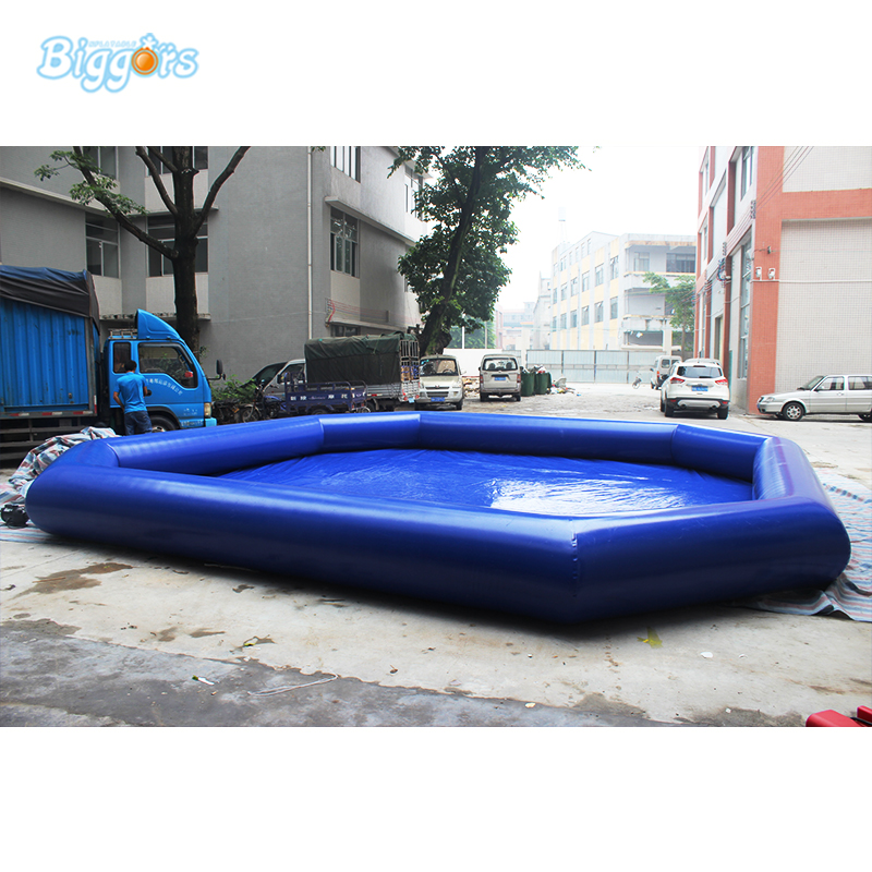 PVC Material Inflatable Water Pool Large Inflatable Swimming Pool For Water Park Commercial commercial inflatable water slide with pool made of pvc tarpaulin from guangzhou inflatable manufacturer