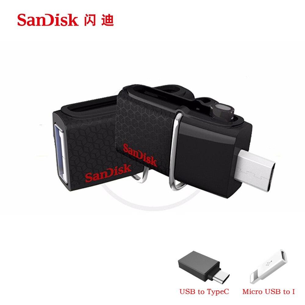 32gb Flash Drive Sandisk Ultra Dual Otg Flashdisk Usb Type C 32 Gb 16gb 64gb 128gb 256gb 150mbs 30 Pen