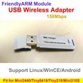 11n Adaptador USB Wi-Fi sem fio 150 M Wifi Adaptador Wireless USB Apto para MINI2440 TINY6410Tiny210 MINI210 Para Android, Linux, WinCE