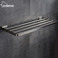 AUSWIND modern 304 stainless steel bathroom towel rack bathroom shelf towel rack wall mount bathroom products 40/50/60cm