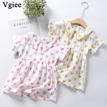 Vgiee Baby Girl Clothes Children Dresses Girls Party Princess Dress Print for Love Little Girls Clothing CC306