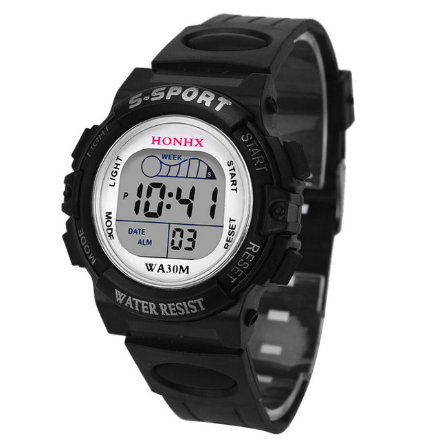 Life Waterproof Children Date Watch For Boys Girls Digital LED Sports Wrist Watc