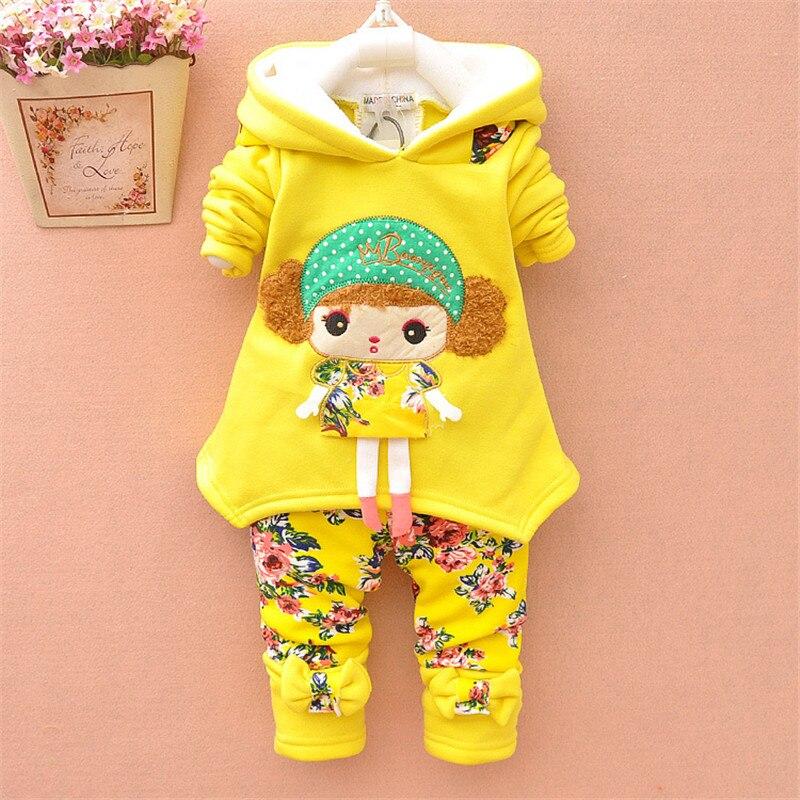 Bibicola Baby Girls Winter Clothing Set Thick Warm