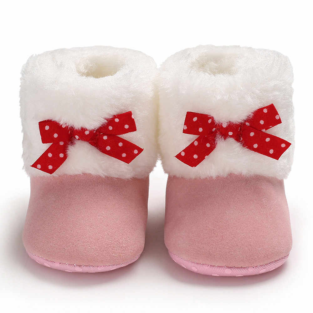20c97ecce6fab Baby Warm Winter Boots First Walkers Newly Baby Girls ShoesBow Pure Color Snow  Boots Soft Toddler