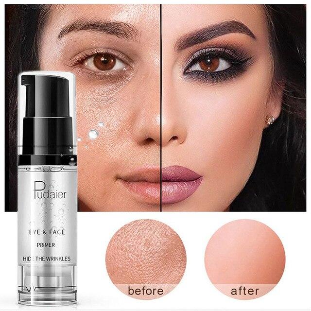 איפור בסיס קרם לחות טבעי עירום פנים טיפול עין בסיס מקצועי איפור פריימר קרם נוזל מלא כיסוי ג ל