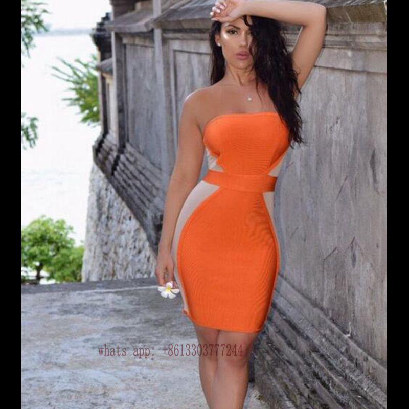 Compare Prices on Strapless Orange Dress- Online Shopping/Buy Low ...