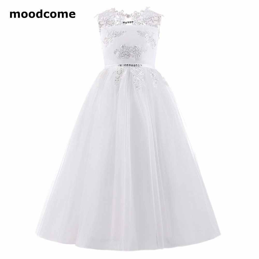 2018 new cheap flower girl dresses floor length tulle applique 2018 new cheap flower girl dresses floor length tulle applique sequins a line first communion dresses for girls izmirmasajfo