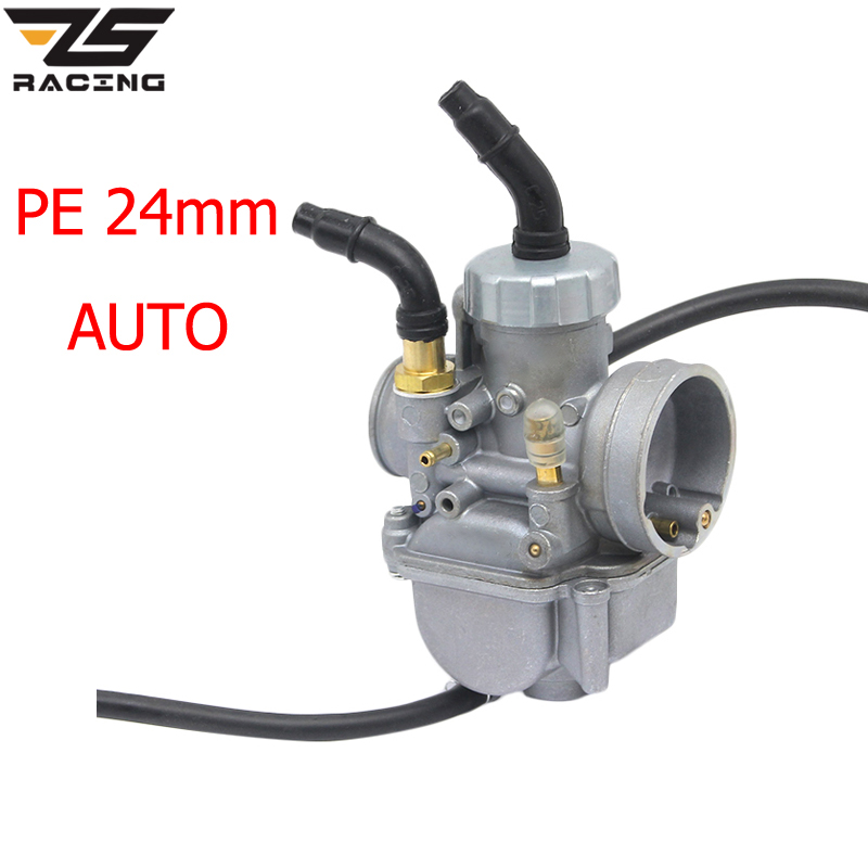 ZS Racing KEIHIN PE24 PE28 24mm 28mm Auto Flat Slide Performance Carburetor For Scooter Moped ATV Dirt Bike racing carburetor keihin pe28 28mm carb for atv quad 4 wheeler motocross motorcycle pit dirt motor bike scooter moped