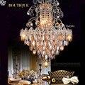 Новый список Роскошная гостиная атмосфера золотые Кристальные лампы для люстры спальни светодиодные лампы круглый спальня лампа зал