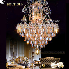 the new listing Luxury living room atmosphere gold chandelier crystal lights bedroom led lamps roundr Bedroom