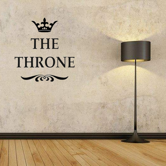 Good The Throne Funny Interesting Toilet Wall Stickers Bathroom ...