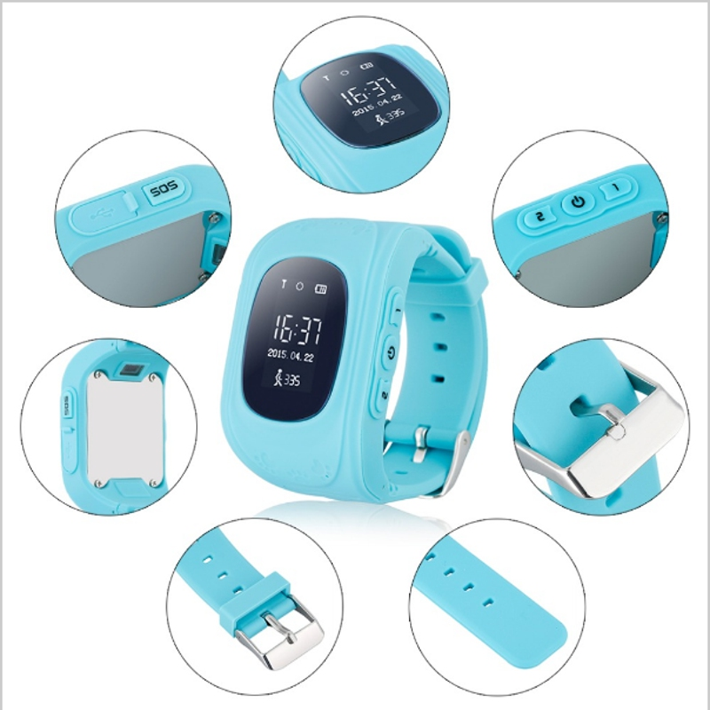 2016 Smart Kid Safe GPS Q50 Watch Wristwatch SOS Call Location Finder Locator Tracker for Kid Child Anti Lost Monitor Baby Gift