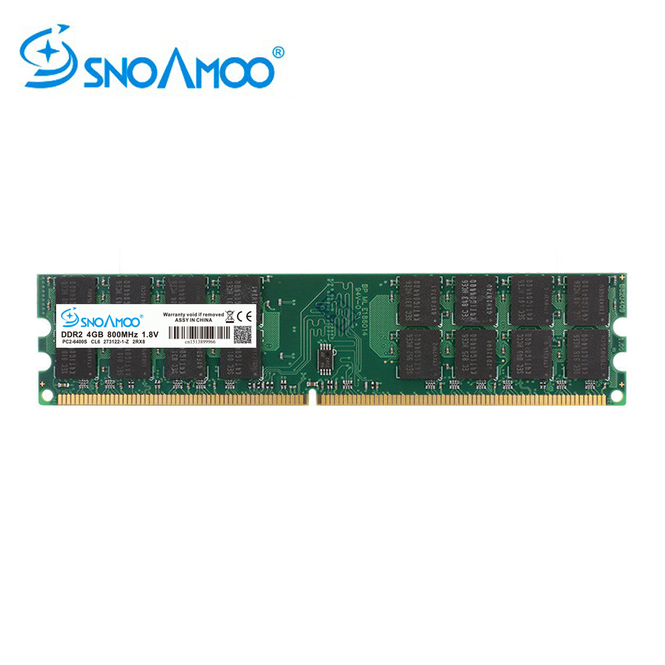 SNOAMOO RAMs DDR2 4GB 2GB 800MHz/667MHz PC2-6400 Desktop PC DIMM Memory 240 Pins For AMD System