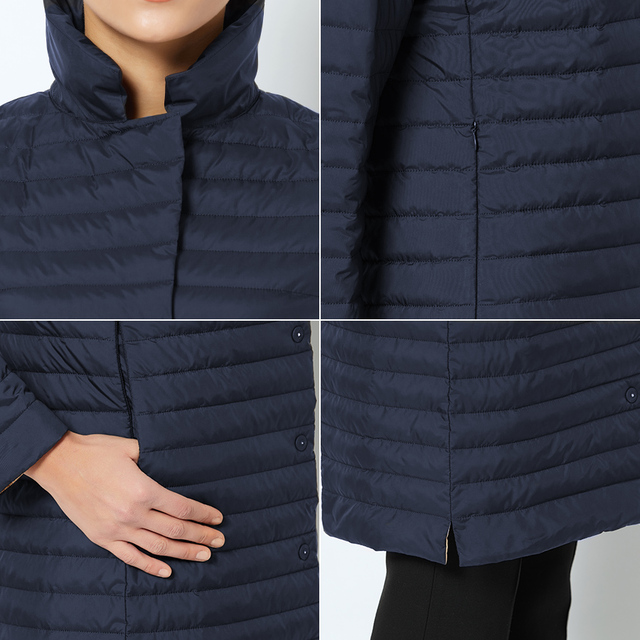 MIEGOFCE 2019 Women Cotton Padded Jacket Thin Women Quilted Parkas Long Spring Windproof Women's Spring Jackets Coats New Design 5