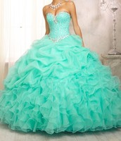 Cheap Ball Gowns Sweet 16 Long Mint Green Pink Girl Quinceanera Dresses Red For Quinceanera 15