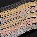18 мм 19 мм 20 мм 21 мм 22 мм 23 мм 24 мм Из Нержавеющей стали ремешок для часов Серебро Черный Rosegold часы Ремни Браслет для механических часов