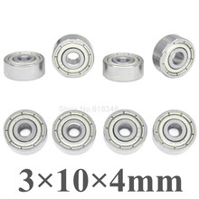 8pcs Universal Miniature Ball Bearings 3x10x4mm Metal Shielded For RC Car Parts
