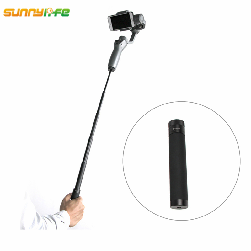 Sunnylife DJI OSMO Mobile 2 Handheld Gimbal Extension Stick Rod Pole Scalable Holder Smartphone for OSMO Mobile 2 Accessories