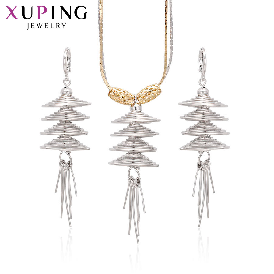Xuping Fashion Popular Charms Style Set High Quality Hot Sell Imitation Jewelry for Women Sets Halloween Gifts S67-60527