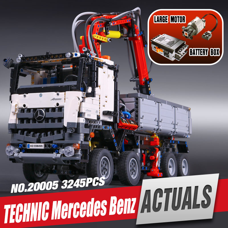 font b LEPIN b font 20005 technic series Mercedes Benz Arocs Model Building blocks Bricks