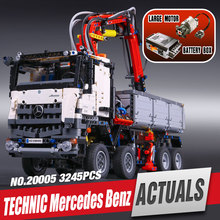 LEPIN 20005 technic series Mercedes-Benz Arocs Model Building blocks Bricks Compatible with 42043 Toy for Children legoe
