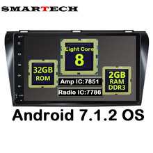 SMARTECH 8 Core Android 7.1.2 9″ IPS For Mazda3 2004-2008 Car Radio Player GPS Navigation With video Wifi Bluetooth Rom2G Rom32G