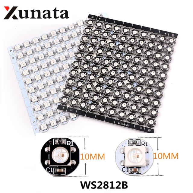 10~1000pcs 4-Pin WS2812B WS2812 LED Chip & Heatsink Board DC5V 5050 RGB WS2811 IC Built-in RGBW RGBWW WWA LED Chip