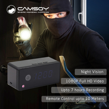 T7 Clock Camera Alarm Setting 720P HD H 264 IP Mini Kamera Night Vision Table Clock
