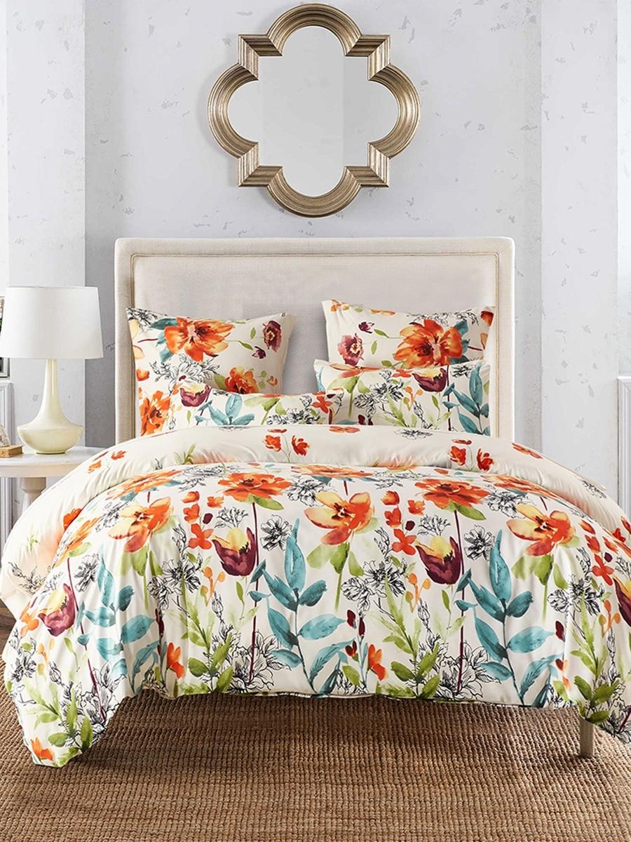2/3pcs Colorful Flower Pattern Bedding Set Duvet Cover And Pillowcases Set 2/3pcs Colorful Flower Pattern Bedding Set Duvet Cover And Pillowcases Set