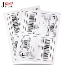 (50 Sheets / Pack ) JETLAND 100 Pcs Half A4 Size Labels Laser/Inkjet UPS Fedex Shipping Labels A5 Address Stickers