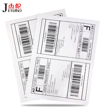 (50 folhas/pacote) jetland etiquetas tamanho metade a4, laser/ups em kjet fedex, etiquetas de endereço a5, 100 peças