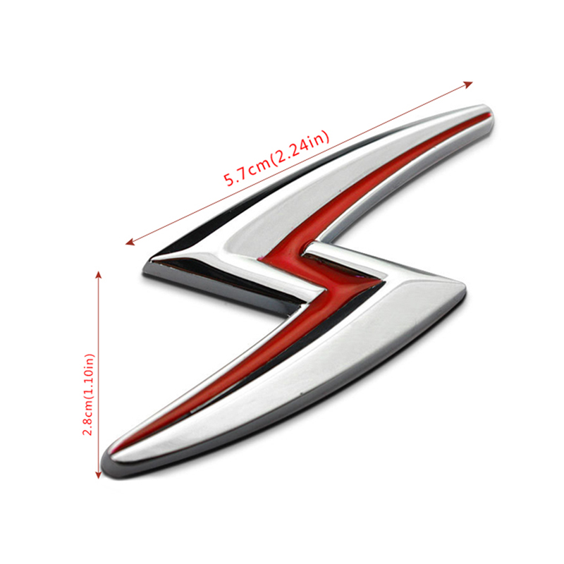 Metal Lightning Logo Fender Tail Emblem Car Sticker Badge For Nissan Silvia S10 S110 S12 S13 S14 S15 180SX 200SX 240SX 300ZX