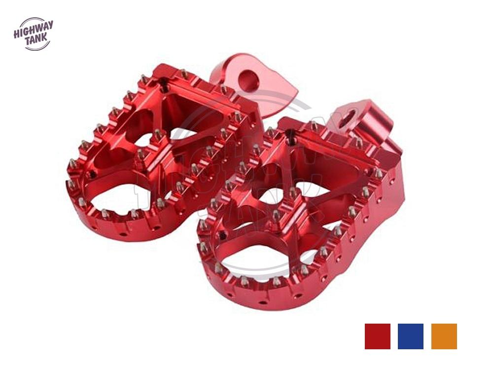 CNC en aluminium Moto repose-pieds repose-pied Moto repose-pieds pour Yamaha YZ426F 2000-2002 YZF 250 450 2003-2013 rouge bleu Orange
