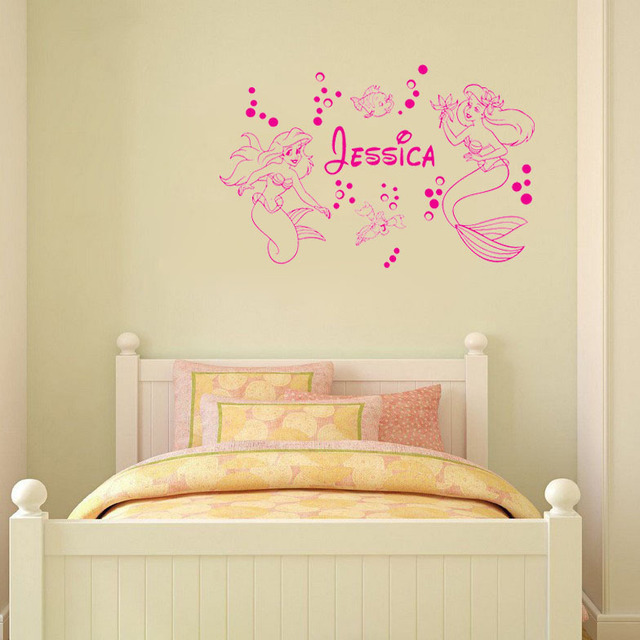 Mermaid ARIEL Custom Name wall art decals home decoration wall ...