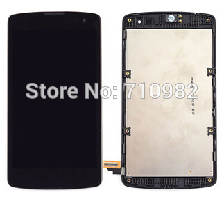 HK Free Shipping Black LCD Display + Touch Screen Digitizer Assembly with Front frame For LG Optimus F60 D392 D390N D390