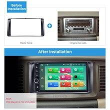 Harfey Автомобильная Радио фасция CD отделка ободок Установка индаш монтажный комплект для Toyota Corolla 2003 2004-2006 стерео приборная панель аудио рамка