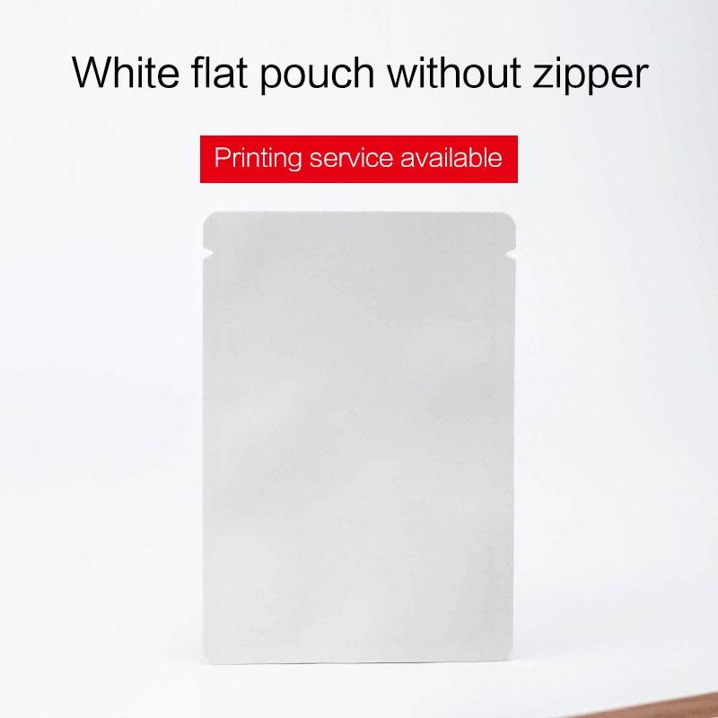 55d9f6afb Bolsa de fondo plano sin cremallera mate negro blanco papel de aluminio  bolsa alimentos máscara bolsas de embalaje en Bolsas de almacenamiento de  Hogar y ...