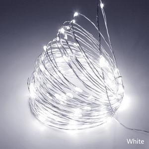 Image 3 - Светодиодная гирлянда, 10 м, 33 фута, 100 светодиодов, 5 В, питание от USB, водонепроницаемая медная проволочная гирлянда, рождественское праздничное украшение, светодиодные гирлянды