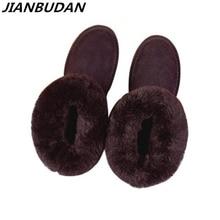جلد طبيعي جلد البقر المرأة الثلوج الأحذية 2020 جديد الشتاء أفخم الفراء أحذية دافئة سيدة أحذية الشتاء جلد طبيعي القطن 35 40