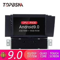 TOPBSNA Android 9.0 Car DVD Player For Citroen C4 C4L DS4 2011 2012 2013 2014 2015 GPS Navigation 1 Din Car Radio Stereo WIFI SD