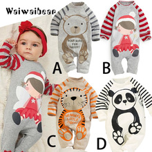 Baby Rompers Baby New Spring &Autumn Clothes  Baby Long Sleeve Cartoon Jumpsuits Infant Jumpsuits For Boys And Girls infant romper spring autumn baby clothes flannel baby boys clothes cartoon animal jumpsuits infant girl rompers baby clothing
