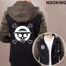 2017 New Spring Autumn One Piece Luffy Hoodie Anime Cool Coat Men zipper Jacket