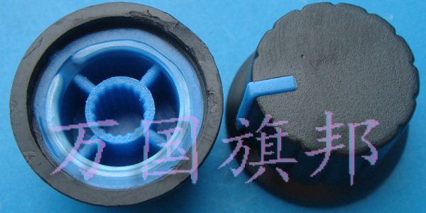 Delivery. Free Potentiometer Knob Environmentally Friendly Plastic High 15MM Low 24MM Black Body Blue Point